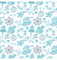 seamless baby background with sea vector image vector image