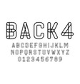 set alphabets font modern design with lines vector image vector image