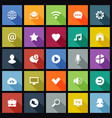 set flat icons for mobile app and web vector image vector image