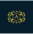 set of elements in style of mono line luxury logo vector image vector image