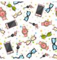 set phones watches sunglasses car keys vector image vector image