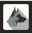 Shepherd dog icon flat style vector image vector image