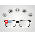 smart glasses vector image vector image