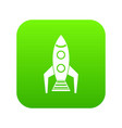 space rocket icon digital green vector image vector image