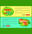 summer sale flyers set with 30 off promo banners vector image vector image