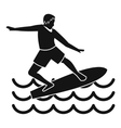 Surfer icon simple style vector image vector image