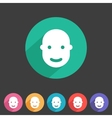 User avatar face profile flat icon vector image vector image