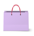 Violet shopping paper bag isolated on white vector image vector image