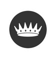 white crown vector image