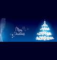 white glitter christmas tree banner vector image