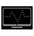 white halftone monitor dotted pulse icon vector image vector image