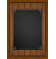 wooden frame with boards black sheet a4 vector image