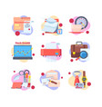 work routine business set working office moments vector image