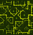 yellow diamonds and squares at the intersection vector image vector image