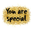 you are special card vector image