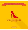 logo womens shoes with a heel icon vector image