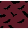 Halloween seamless background with bats vector image