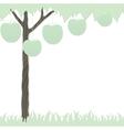 cutout tree white vector image