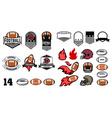 football emblems design elements vector image