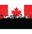 Party crowd on canadian flag 1607 vector | Price: 1 Credit (USD $1)