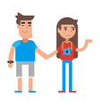 A couple on summer vacation vector image