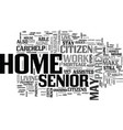 a home for grandma text word cloud concept vector image vector image