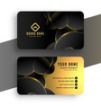 abstract black and golden business card design vector image vector image