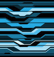 abstract blue black line cyber futuristic seamless vector image