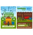 agriculture tools shop and garden festival vector image