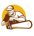 arborist tradesman vector image vector image