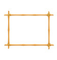 bamboo signboard frame vector image vector image