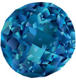 beautiful isolated blue topaz vector image