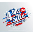 big sale banner for independence day vector image vector image