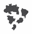brazil regions maps vector image vector image