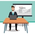 business training design vector image vector image
