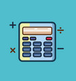 calculator icon set of great flat icons use for vector image vector image