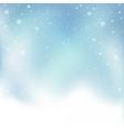christmas snowfall on sky backdrop vector image vector image