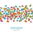 Colorful easter egg isolated on white background vector image vector image
