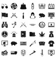criminal money icons set simple style vector image vector image