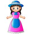 cute little florist girl vector image