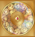 disks of the zodiac signs vector image vector image