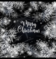 elegant christmas black background vector image vector image