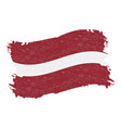 flag of latvia grunge abstract brush stroke vector image vector image