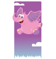 Funny Pink Elephant vector image