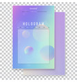 furistic modern holographic cover set vector image vector image