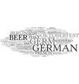 german word cloud concept vector image vector image