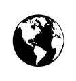 globe earth 05 vector image vector image