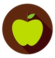 Green Apple Circle Icon vector image vector image