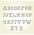 Hand drawn font retro alphabet vintage style vector image