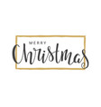 handwritten lettering of merry christmas vector image